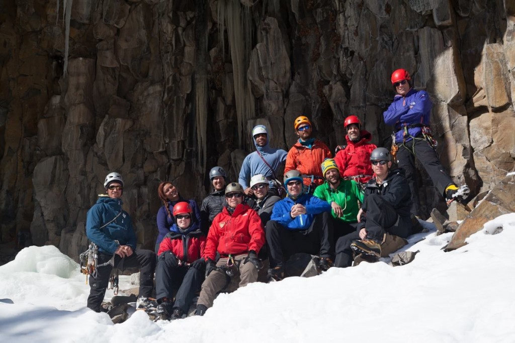 Veterans ice climbing week with the Sierra Club and Montana Alpine Guides.