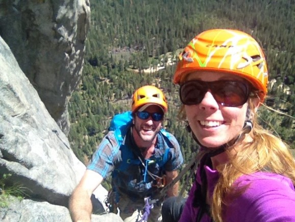 Enjoying a great day out on El Cap with Libby Sauter