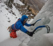 Ari Novak Ice Climbing - Miami Ice - Cody, Wyoming
