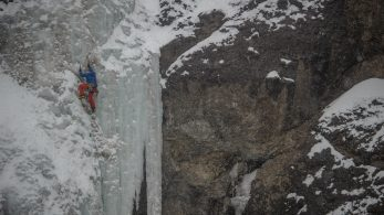 Ari Novak Ice Climbing in Cody, Wyoming