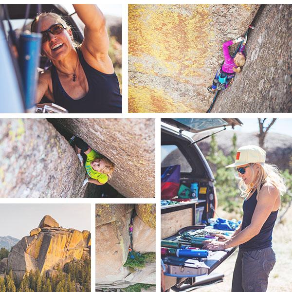 Pamela Shanti Pack Climbing Vedauwoo
