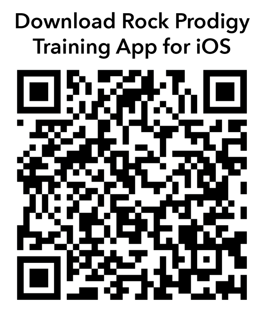 QR Code to download the Rock Prodigy App for Apple