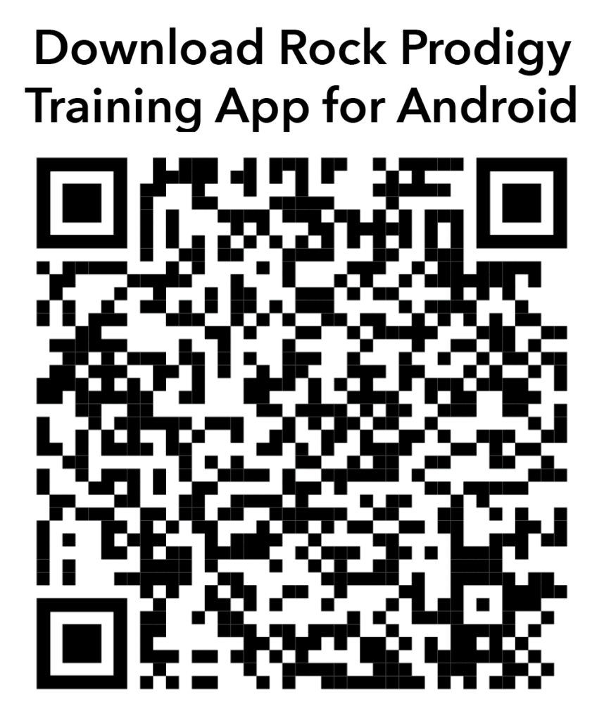 QR Code to download the Rock Prodigy Training App for Android